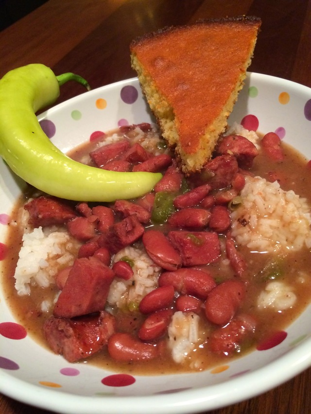 Red Beans & Rice with Sausage & Ham...so delicious and satifying!  Enjoy :)