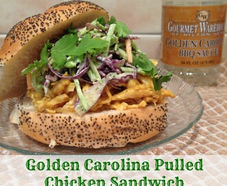 Golden Carolina Pulled Chicken Sandwich with Broccoli Slaw & Cilantro :: Gourmet Warehouse