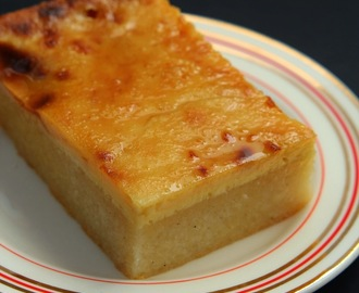 Cassava Cake with Creamy Custard Topping