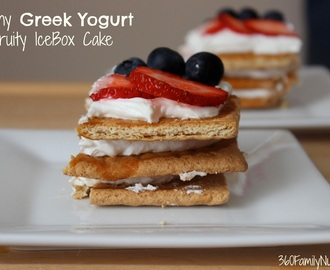 Skinny Greek Yogurt Fruity Icebox Cake
