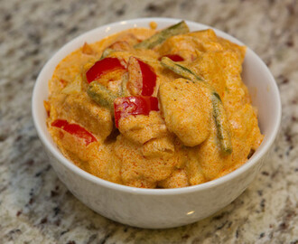 Chicken with Peppers and Green beans