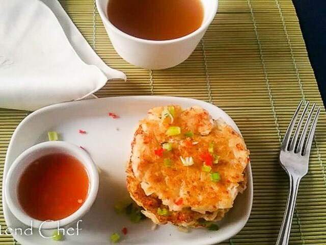 Light, crispy and tender Cooked Rice Pancake with Leftover Rice
