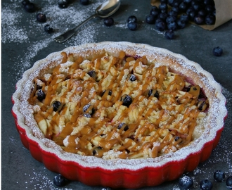 Caramel Apple and Blueberry Tart