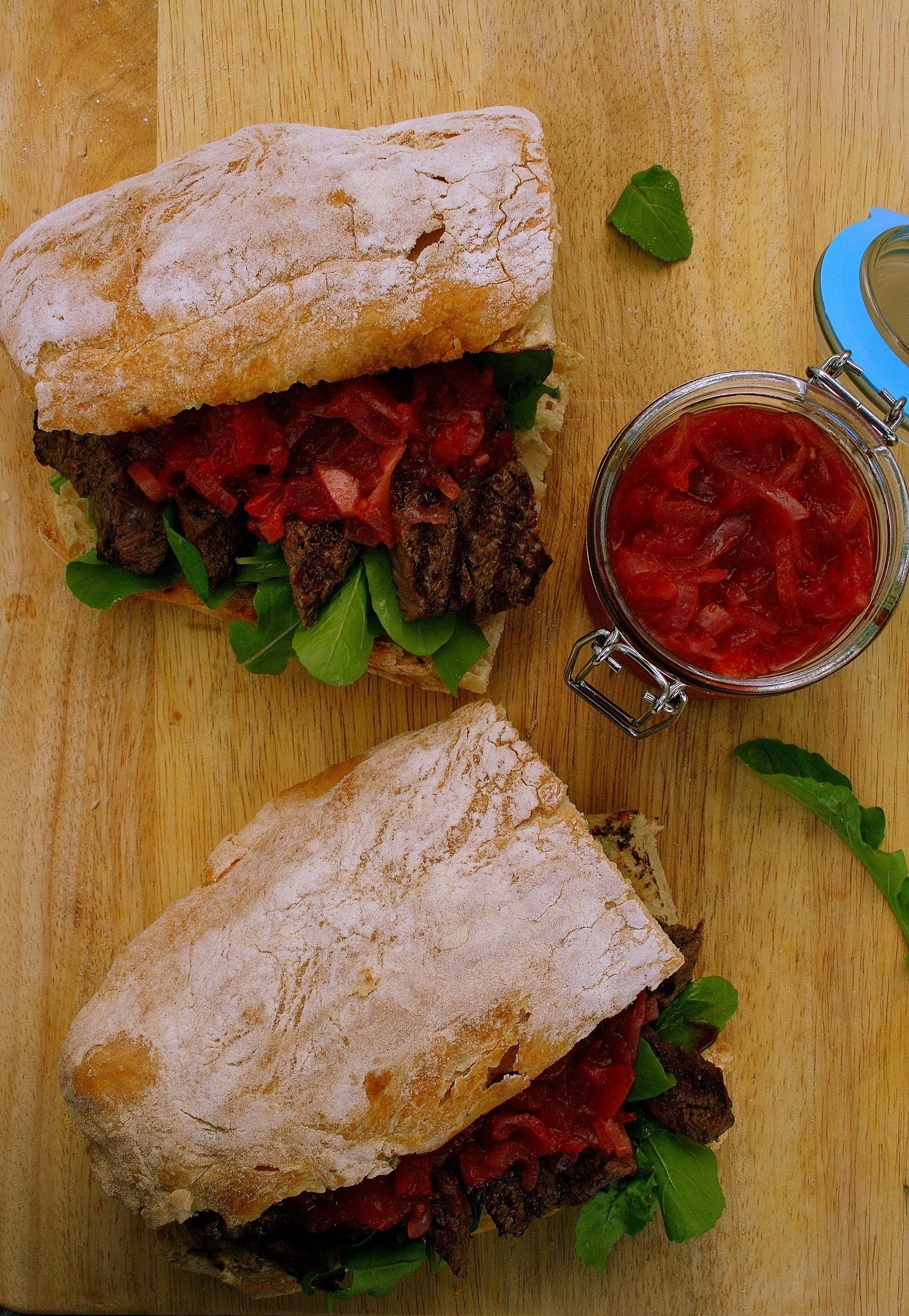 Steak Sarmies with Chunky Tomato Ginger Chutney
