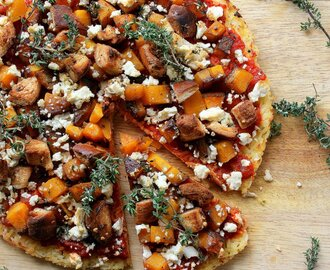 Roasted Butternut and Rice Pizza