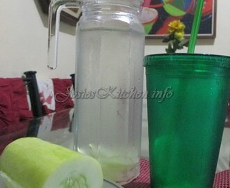 Healthy Cucumber-infused drinking water