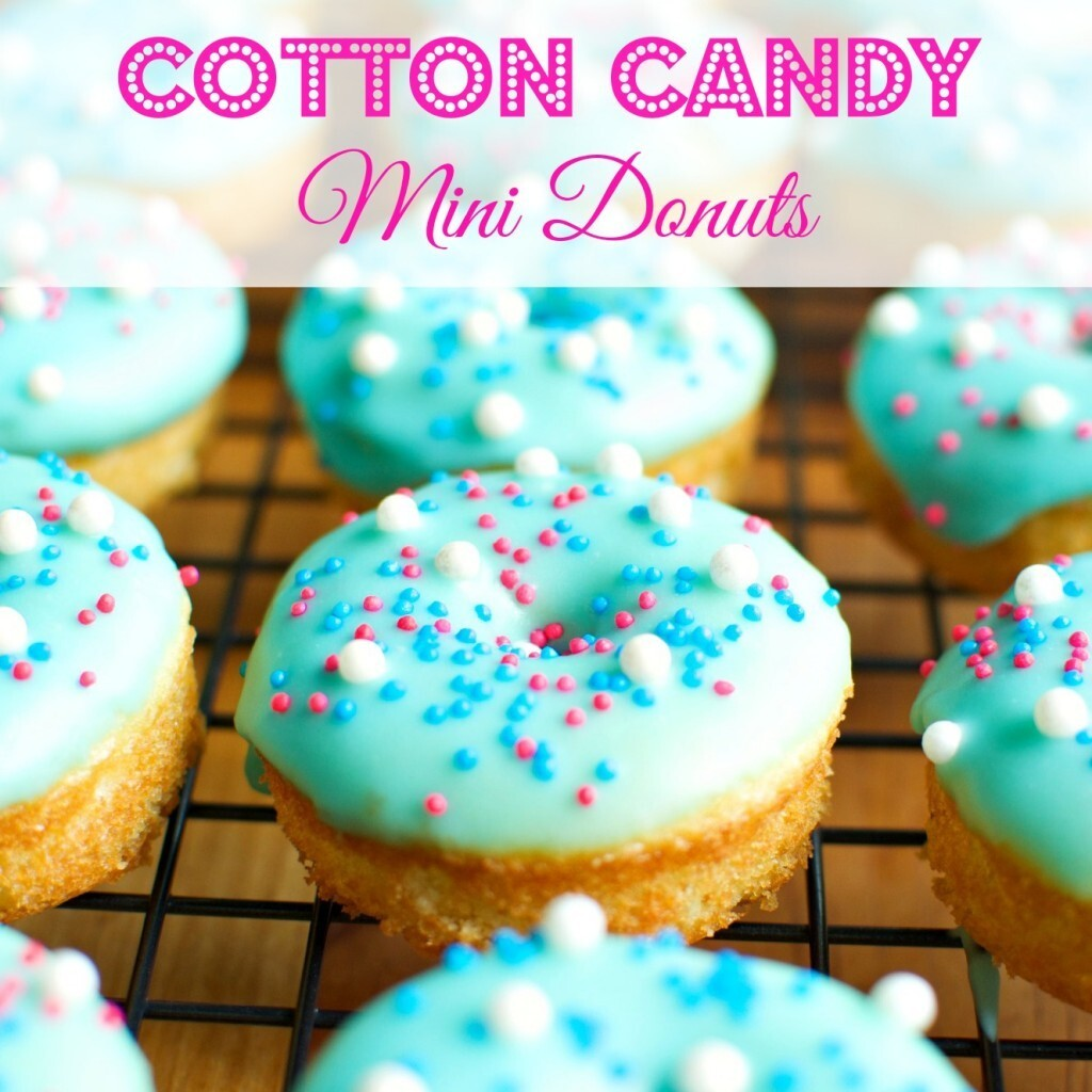Cotton Candy Mini Donuts