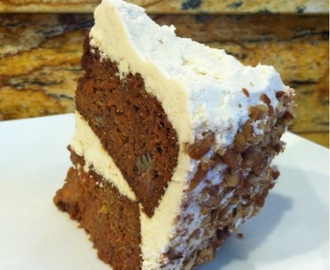 Paleo Carrot Cake with Cream Frosting