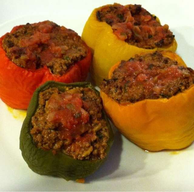 Paleo Latin Spiced Stuffed Peppers