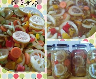 vegetable pickle in syrup