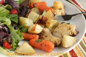 ZESTY ONE PAN CHICKEN AND POTATO BAKE