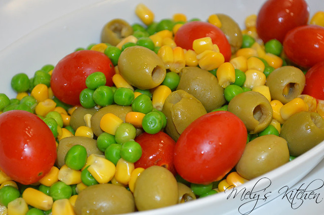 Corn and Green Peas Appetizer