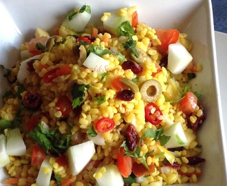 Moong Dal / Yellow split Mung lentil – Salad , Chaat {100% Oil free … }