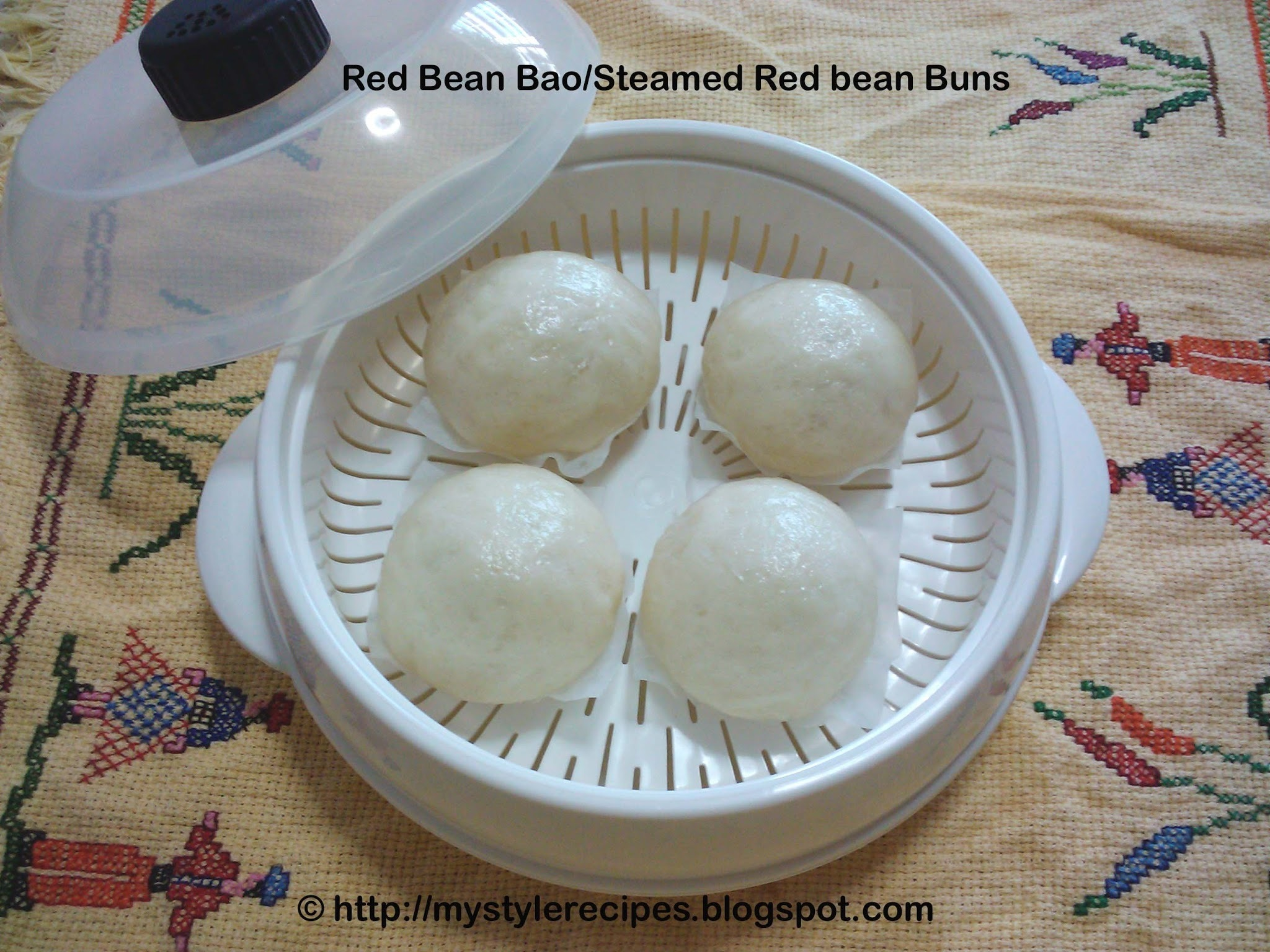 Red Bean Bao/Baozi/Pow/Pau|Steamed Red Bean Buns|Chinese Snack Recipes
