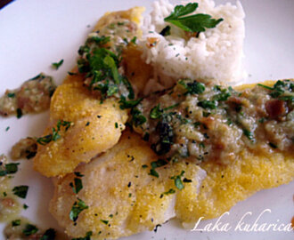 Fileti bijele ribe u umaku od peršina :: White fish fillets in parsley sauce