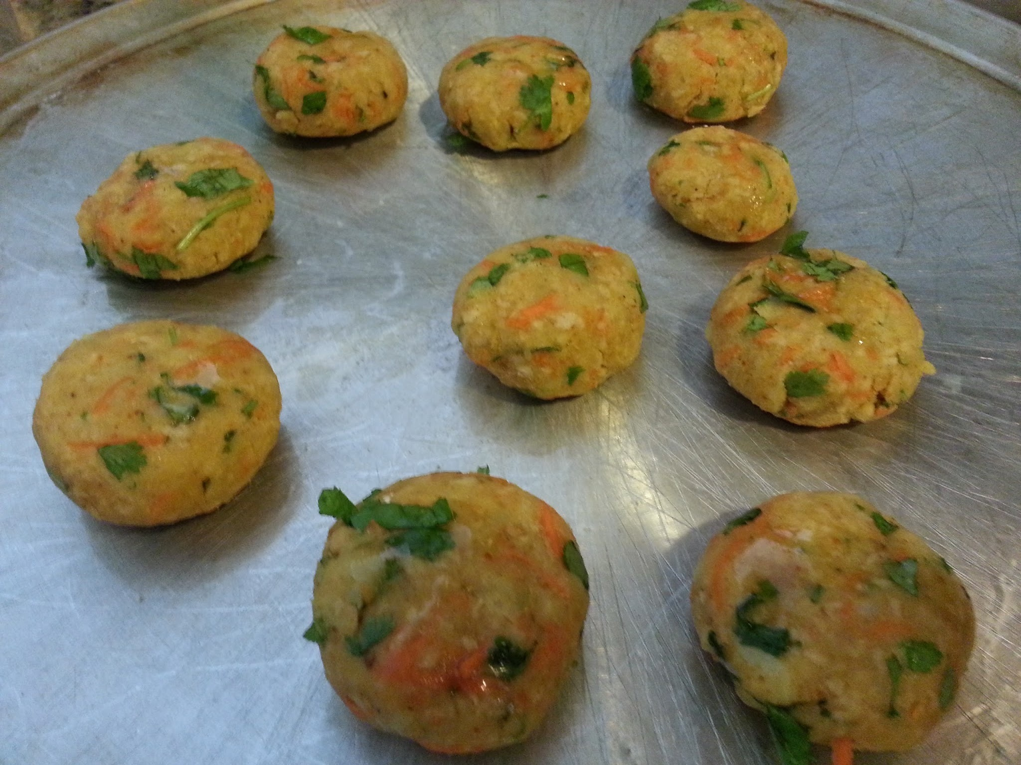 Baked Soya and Potatoes , Cheese tikkis