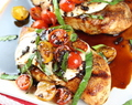 Grilled Chicken Caprese with Balsamic Sauce