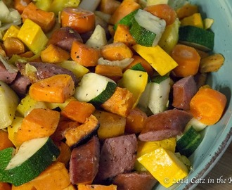 Roasted Kielbasa & Vegetables