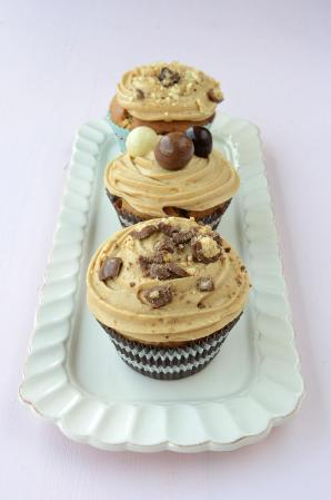 Coffee and Malted Puff Cupcakes
