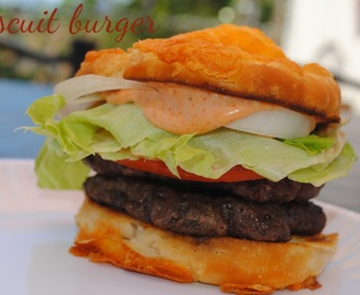 take my word for it wednesday.. you must try this biscuit burger.. plus a burger round up..