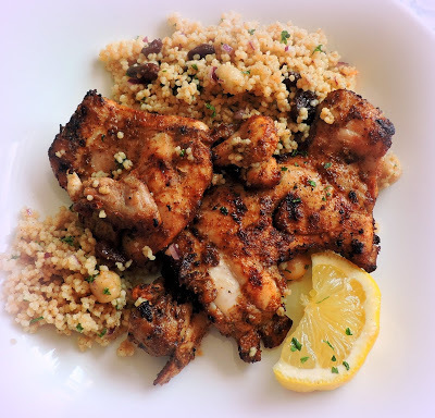 Moroccan Spiced Grilled Chicken & Couscous Salad