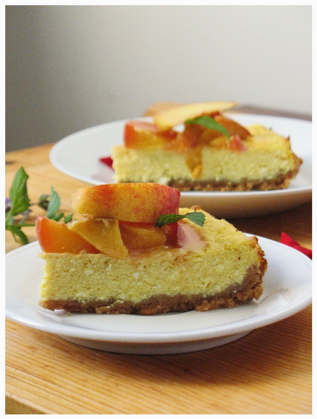 Torta od sira s breskvama/ Cheesecake with peach topping