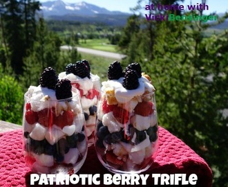 Patriotic Berry Trifle & Pedal the Cause!
