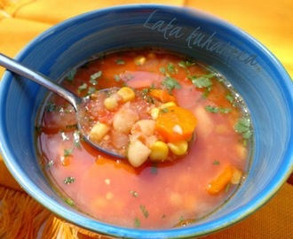Juha s grahom i kukuruzom :: Soup with beans and corn