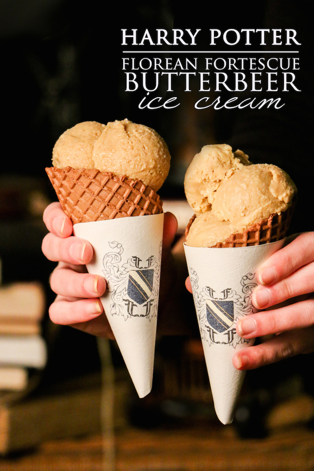 Florean Fortescue Butterbeer Ice Cream Recipe | Harry Potter