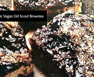Organic Vegan Girl Scout Brownies #Recipe