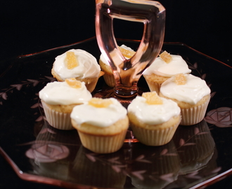 Mini Ginger Cupcakes with Cream Cheese Frosting with a Splash of Lemon and a Bite-Size Dessert Bar