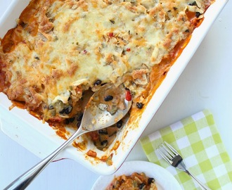 Healthy Chicken & Veggie Taco Bake