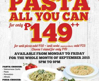 Have Pasta All You Can from the Old Spaghetti House This September 2015 [Updated]