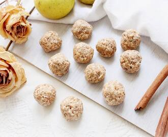Vegan and Raw Apple Cake Bliss Balls