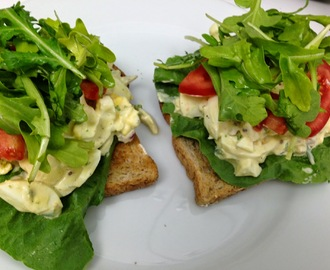 Easy curried egg salad sandwiches