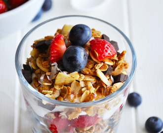 Berry Breakfast Parfait with Homemade Granola