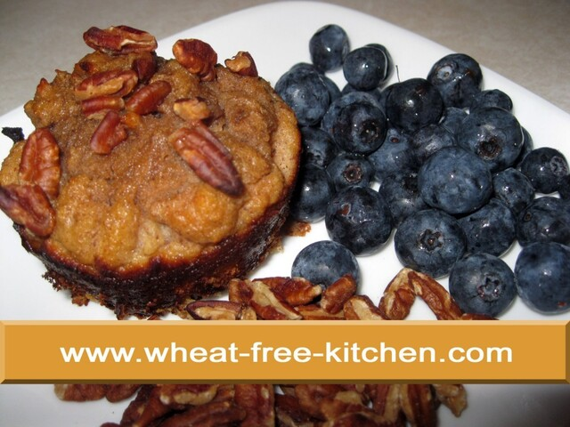 Breakfast:  Banana Nut Muffin, Blueberries PLUS PECANS