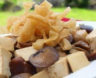 Stir Fried Tofu and Mushroom