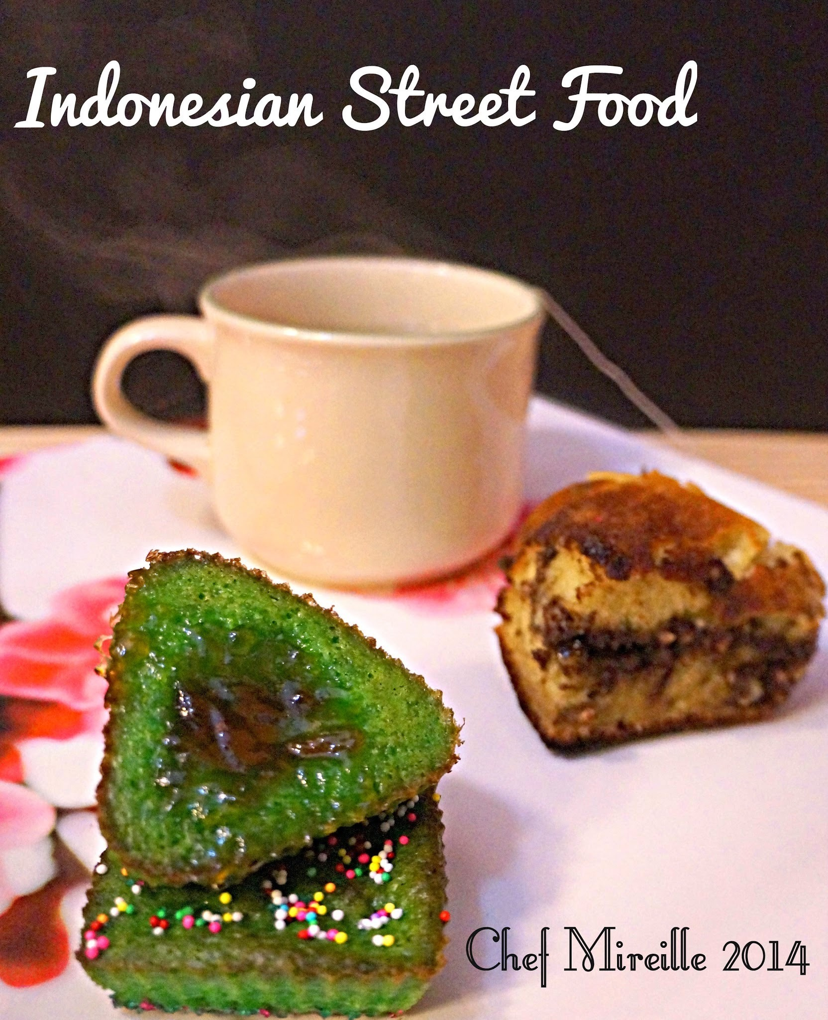 Pandan Kue Pukis - Indonesian Street Food Snacks