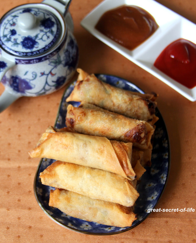 Vegetable spring roll - How to make vegetable spring roll step by step recipe - Snack recipe