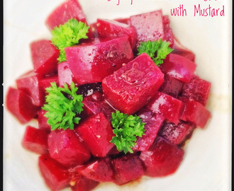Slightly Pickled Beetroot Salad with Mustard