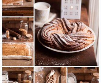{⚠ AVEC GLUTEN, POSSIBLE SANS GLUTEN} VEGAN Kringle Estonien [à la Cannelle] - ©Saines Gourmandises Marie Chioca