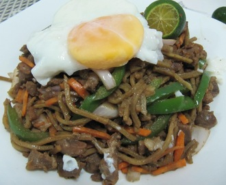 Pancit Batil Patong with Chicken Liver and Gizzard