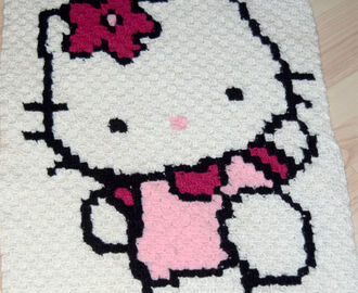 Hello  Kitty – hæklet i C2C