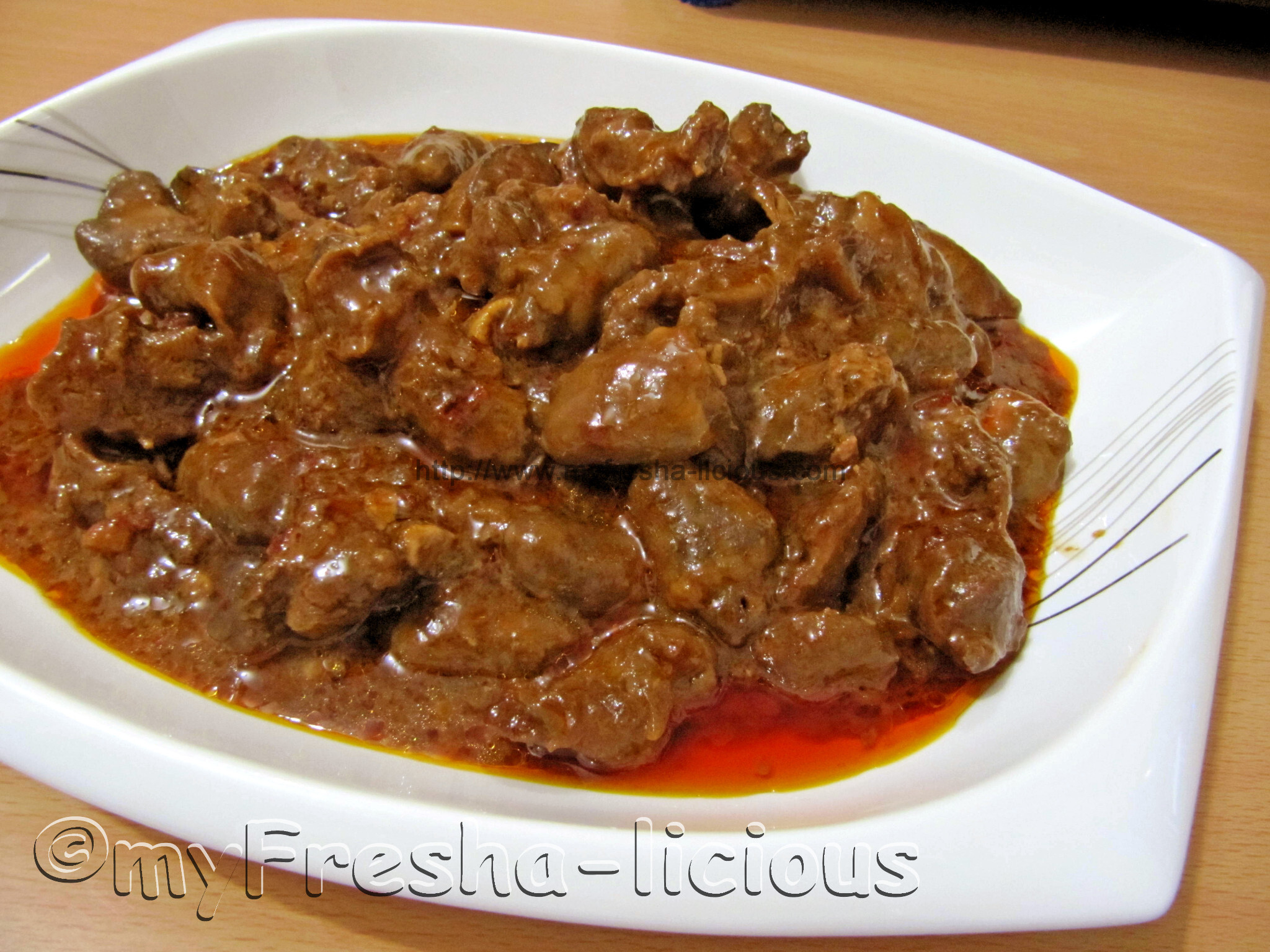 Hot & Spicy Adobong Atay at Balunbalunan ng Manok