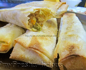 Baked Lumpia : Chicken & Bean Sprout Spring Roll