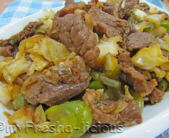 Japanese Stir-fried Beef and Vegetables