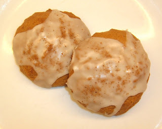 Eggnog Cookies with Rum Butter Icing