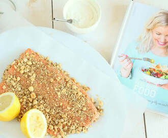 Hele zalm met dukkah uit Feel Good Food
