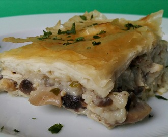 Chicken and Mushroom Pie (Pastel de pollo y champiñones) Reto #Asaltablogs